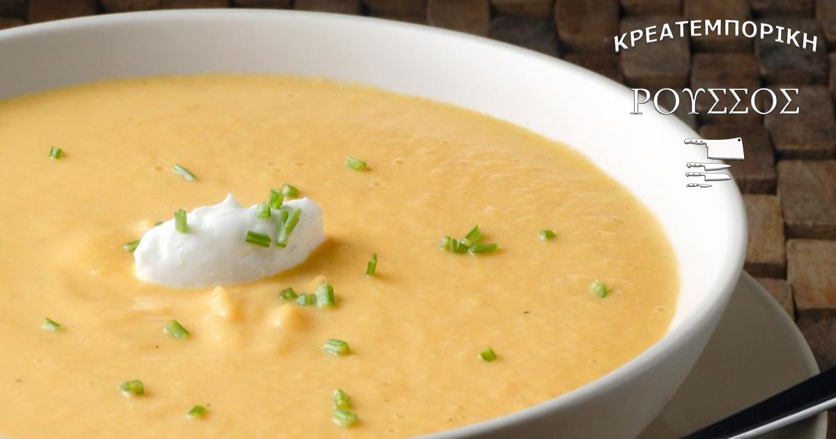 Βελούδινη κοτόσουπα με ρύζι και καρότα